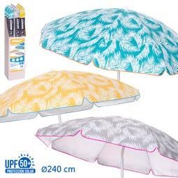 SOMBR.PROTEC SOLAR UPF +50 3/C PALM LEAF 240 CM