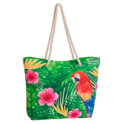 BOLSO PLAYA LORO TROPICAL 51 X 16 X 36 CM