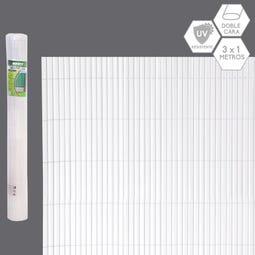 CAÑIZO DOBLE CARA PVC BLANCO EXTERIOR 3 X 1 CM