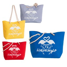 BOLSO PLAYA BASIC FLAMINGO 4/C 51 X 16 X 36 CM