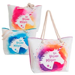 BOLSO PLAYA MAGIC UNICORN 3/C 51 X 16 X 36 CM